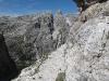 Nástup do via ferraty degli Alpini
